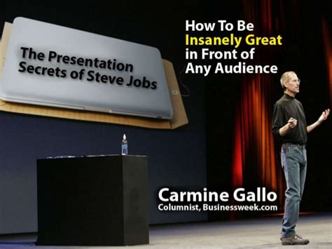 biography of steve jobs powerpoint the presentation secrets of steve jobs carmine gallo