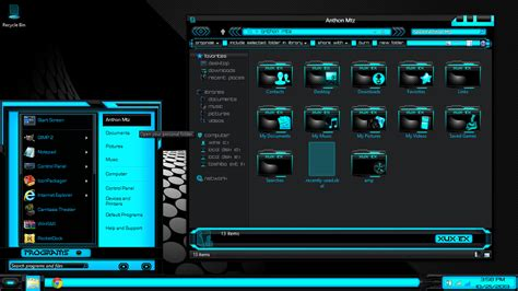 Black Themes For Windows 8 | windows 8 themes black blue xux ek by newthemes on deviantart
