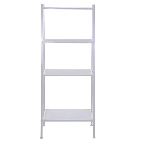 4 shelf metal bookcase storage shelving bookshelf wall