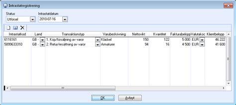 intrastatregistrering
