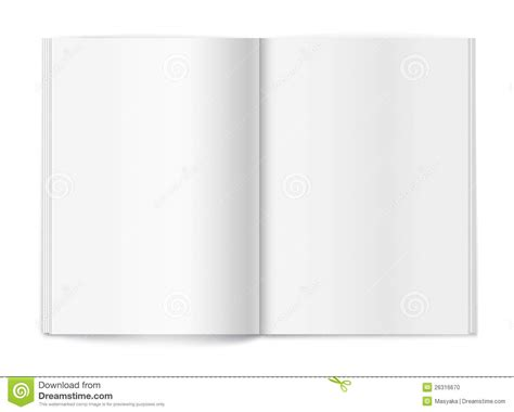 blank magazine on white background template stock vector