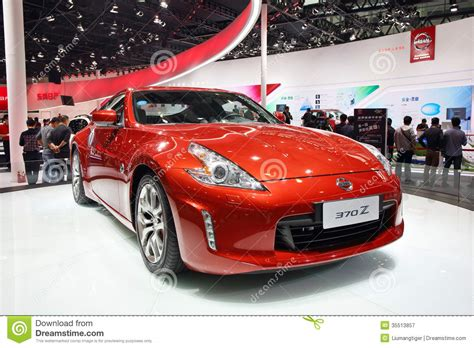red nissan sports car nissan 370z editorial photography image of fast wheels