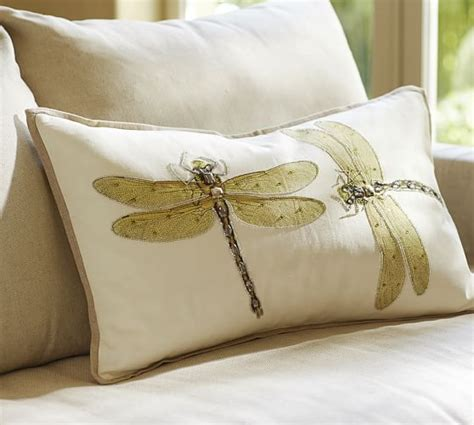 Pillow Covers Pottery Barn by Luxe Dragonfly Embroidered Lumbar Pillow Cover Pottery Barn