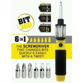 Obeng Multifunction 6 In 1 Screwdriver Bit 360 Murah multifunction 6 in 1 screwdriver bit 360 obeng black