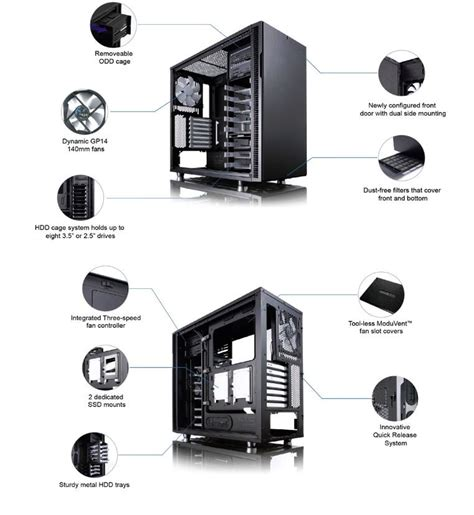 layout definition for computer fractal design define r5 black mid tower atx computer case