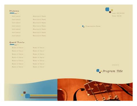 Event Program Template Publisher event program template microsoft publisher