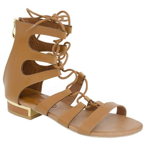 8 Must Gladiator Sandals For Summer by New Womens Gladiator Flat Leather Look Strappy