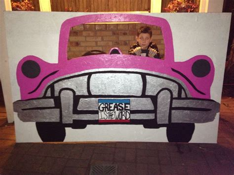 grease themed decorations 50s car photo prop grease celebrate