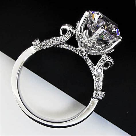 large lab created engagement ring compare with the