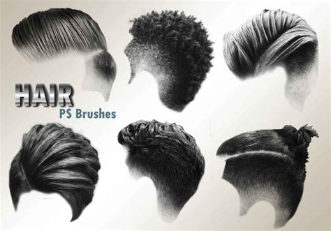 male hair templates for photoshop 20 hair male ps brushes abr vol 3 free photoshop