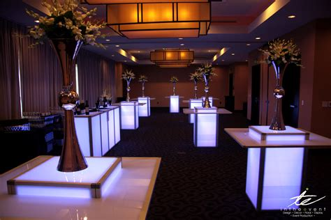 cocktail entertainment using led furniture to brighten your event