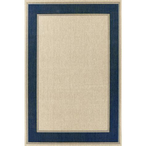 Hton Bay Outdoor Rugs Hton Bay Border Blue 5 Ft 3 In X 7 Ft 5 In Indoor Outdoor Area Rug Rgar055712 The