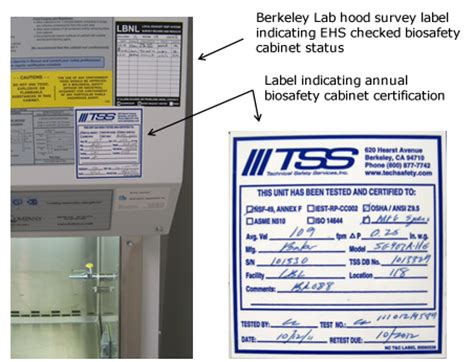 biosafety cabinet certification companies biosafety cabinet certified performance test