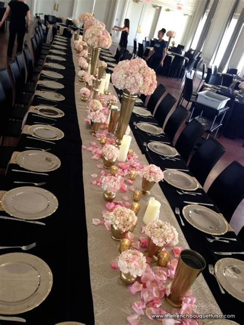 black gold and white wedding tables search