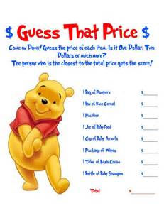 winnie the pooh baby shower winnie the pooh guess that price baby shower by allthingsparty