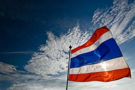 Standing For National Anthem by The Flag Of Thailand Learn Thai With Mod