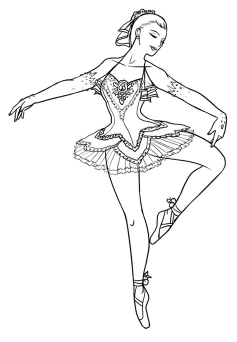 Barbie Ballerina Coloring Pages Coloring Home Ballerina Colouring Page