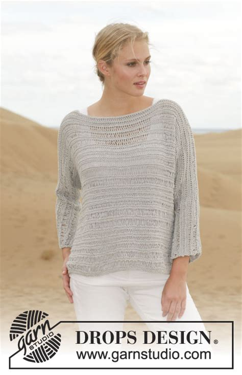 knit pattern summer sweater this jumper with dropped stitches will look great over