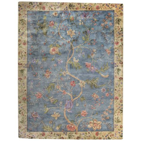 8 x 11 area rug capel garden farms 3 blue 8 ft x 11 ft area rug 9249rs08001100425 the home depot