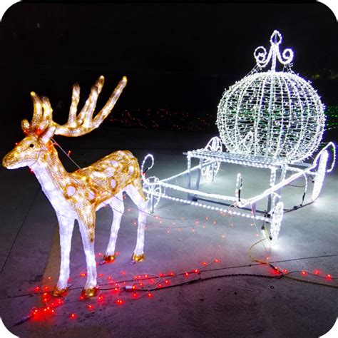 outdoor animated lighted christmas decorations led