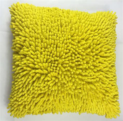 yellow cusion yellow shaggy cushion harbourside decorators