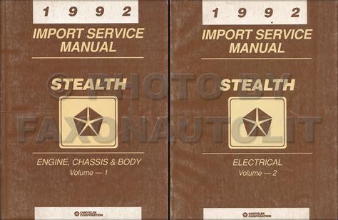 1992 dodge stealth repair shop manual original set es r t and turbo