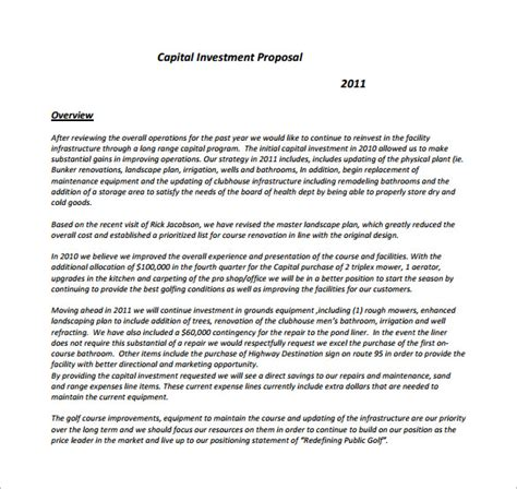 venture capital investment template templates 140 free word pdf format