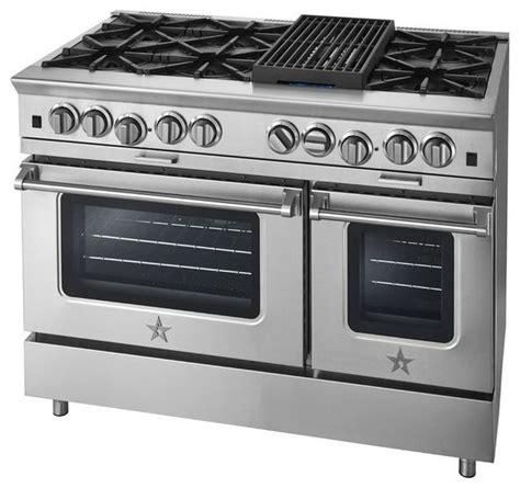 Oven Gas Platinum blue bsp488blp platinum 48 quot stainless steel liquid propane open burner oven range