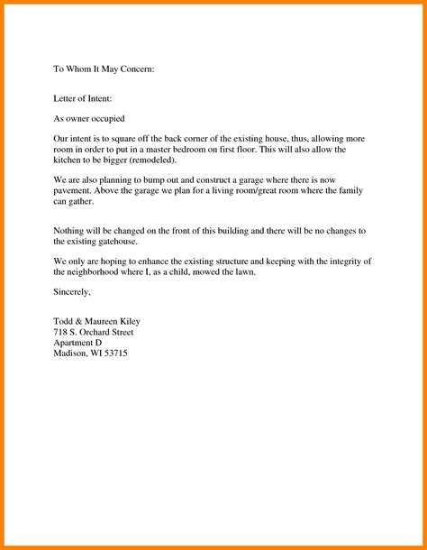 write  proper letter     concern