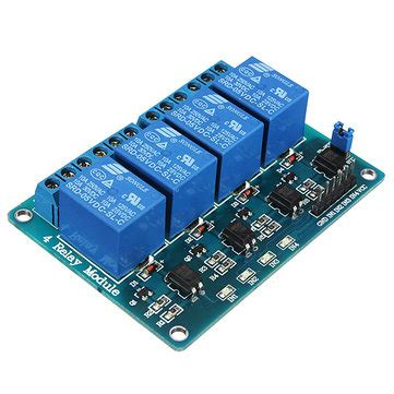 Relay 4 Channel 5v geekcreit 174 5v 4 channel relay module for arduino pic arm dsp avr msp430 blue us 2 99