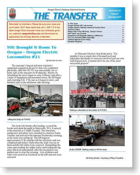 Transfer Newsletter the transfer oerhs newsletter