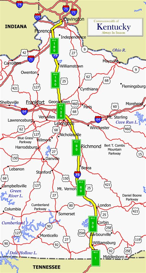 kentucky map i 75 barbourville ky pictures posters news and on