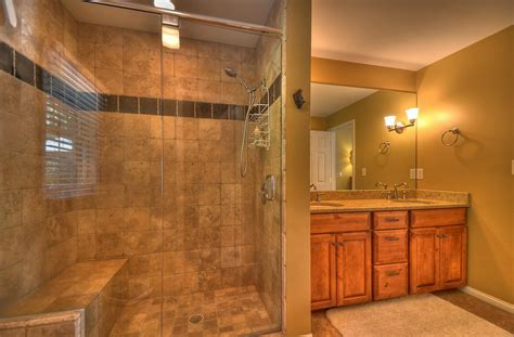 Master Bathroom With Walk In Shower Bathroom Master Bathroom Design Ideas With Walk In Shower Ideas Plus Tile Wall Also Wooden