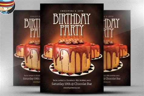 Birthday Flyer Template Flyer Templates On Creative Market Birthday Flyer Template