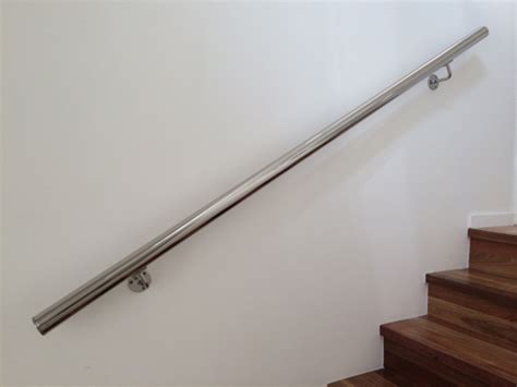 banister wall stainless handrail diy kit type 5 wall mounted handrail with curved brackets