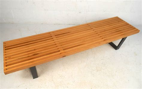 nelson style bench george nelson style slat bench for sale at 1stdibs