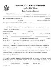 club promoter contract template fight contract template fill printable fillable