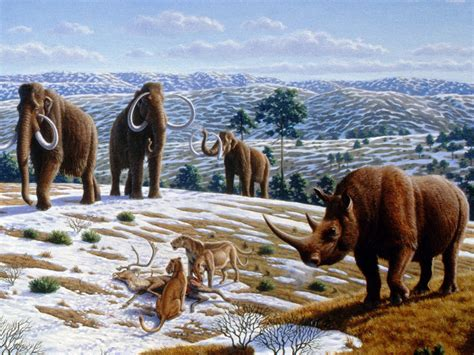 animal during great ice age ancient man made global warming and environmental