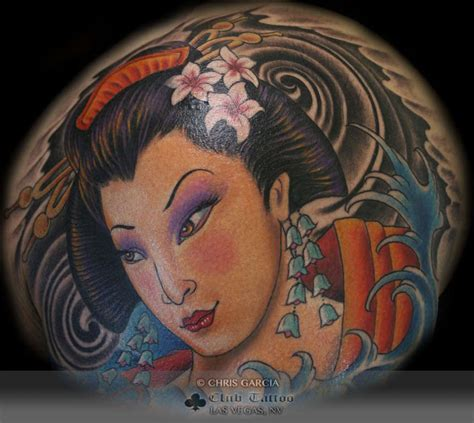 chris garcia tattoo chrisgarcia geisha japanese