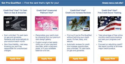 credit one how to apply for the credit one credit cards