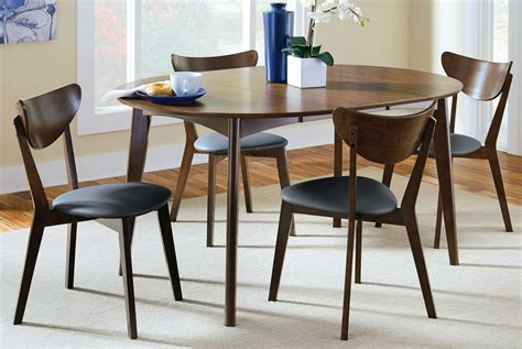 malone extendable dining room set from coaster
