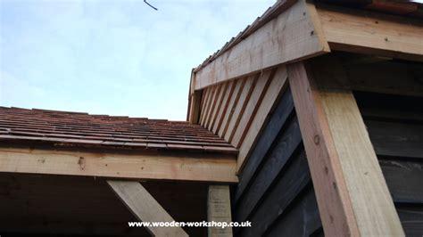cedar garage  wooden workshop oakford devon