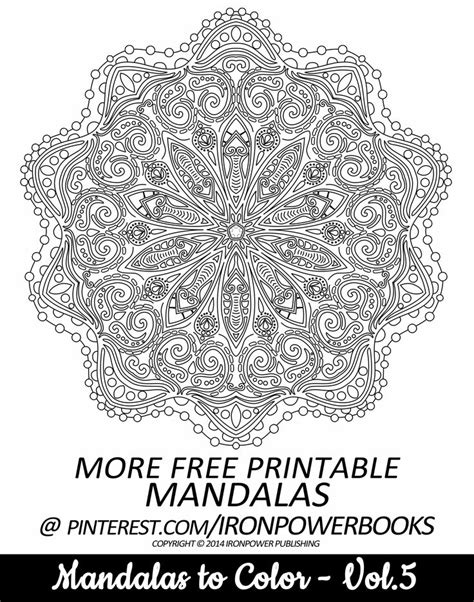 intricate mandala coloring pages free 1000 images about coloring pages on flower