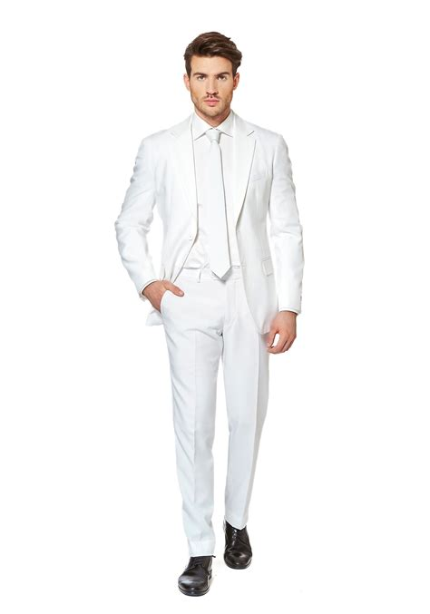 mens white knight suit