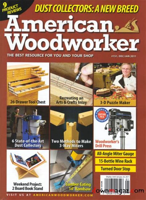 american woodworker issue  december  january