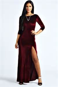Velvet long party dresses prom dresses cheap
