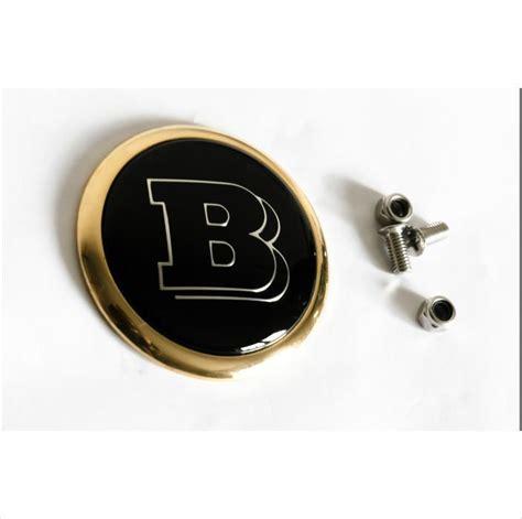 Emblem Badge Brabus mercedes brabus 24k gold plated rear trunk emblem 62mm