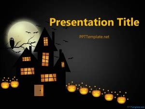 Free Dark Halloween Ppt Template Scary Powerpoint Templates
