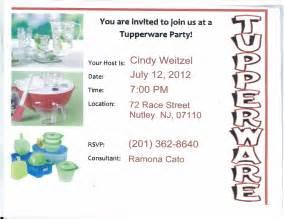 tupperware invitation template