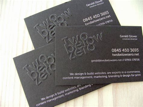 business card template embossed 26 creative embossed business cards for inspiration